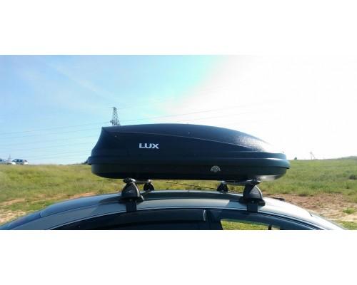 Автомобильный бокс  LUX Flagman 370L черный матовый