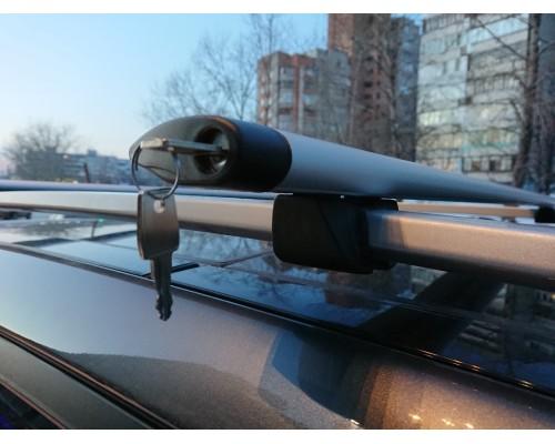 Багажник КРЕПЫШ с крыловидными дугами с замками на рейлинги