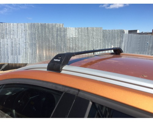 Багажник Turtle Tourmaline V2 на интегрированные рейлинги черный
