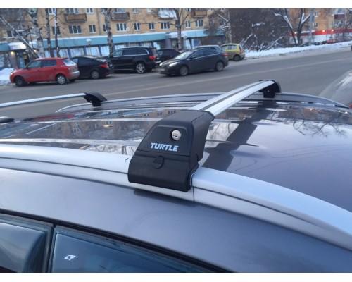 Багажник Turtle Tourmaline V2 на интегрированные рейлинги серебристый