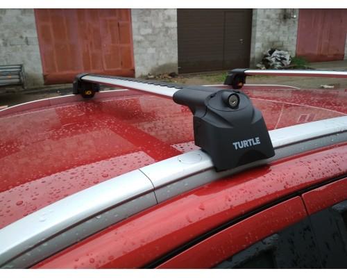 Багажник Turtle AIR 2 на интегрированные рейлинги серебристый