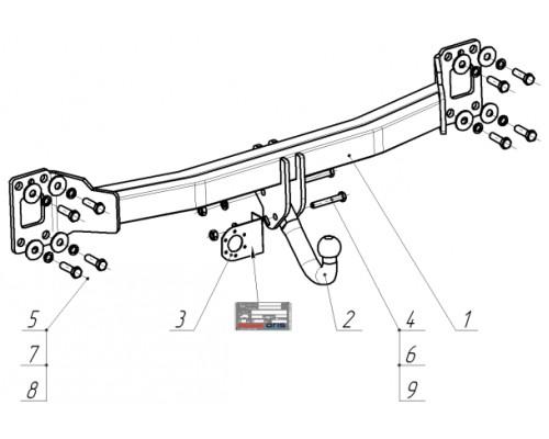 Фаркоп Bosal 2151-A для Audi Q7 2006-2015