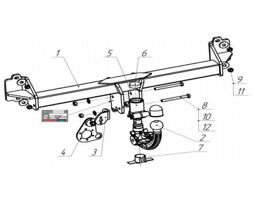 Фаркоп Bosal 4756-AK41 быстросъемный для BMW X3 (F25) 2010-2017