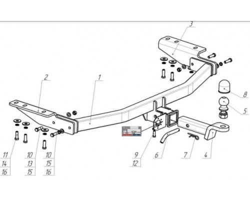 Фаркоп Bosal 4381-Е для Nissan Pathfinder R52 2014-