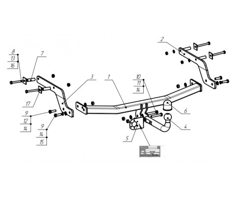 Фаркоп Bosal 1440-A для Renault Arkana