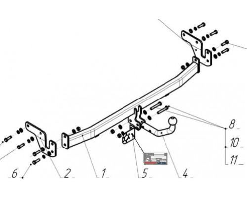 Фаркоп Bosal 4260-А для Hyundai Elantra 2012-2016