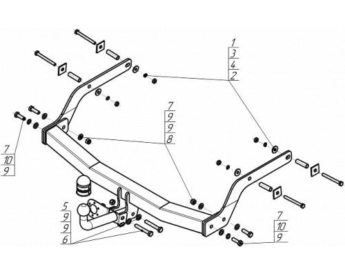 Фаркоп Motodor для Renault Arkana