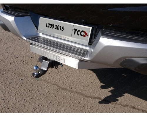 Фаркоп ТСС быстросъемный для Mitsubishi L200 2015-2018/ 2019- с нерж. накладкой