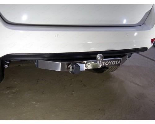Фаркоп ТСС для Toyota Fortuner 2017- с нерж. накладкой