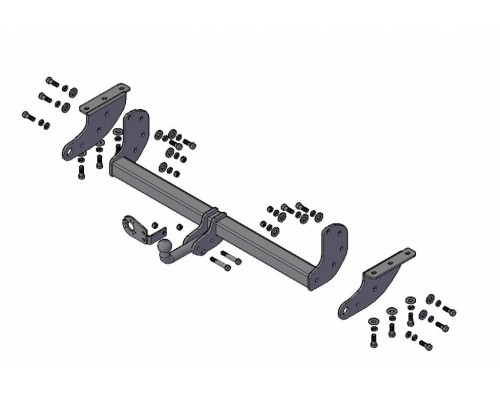 Фаркоп Трейлер для Nissan Navara 2005- (пикап со ступенчатым бампером)