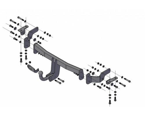 Фаркоп Трейлер для Hyundai Santa Fe 2012-