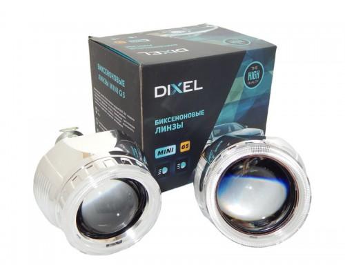 """Би-линзы Dixel G5 MORIMOTO MINI H1 2.5"""" №2 с ангельскими глазками CREE"""