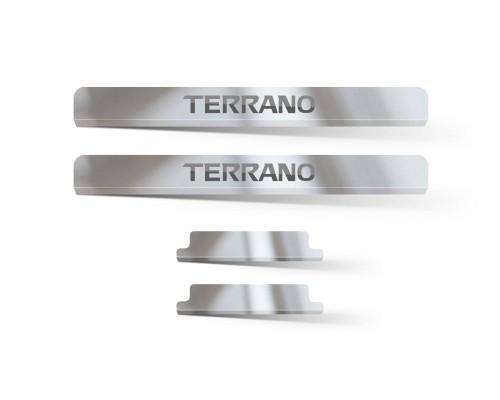 Накладки внутренних порогов (НПС) ПТ Групп для Nissan Terrano 2014-