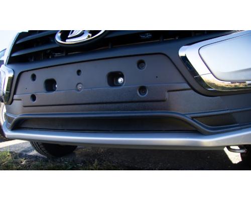 Заглушка бампера зимняя нижняя Yuago АртФорм для Lada Granta FL рестайлинг 2018-