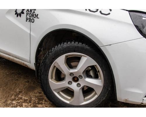 Защитные накладки на арки (АБС) Yuago АртФорм для Lada Vesta SW/ Vesta седан
