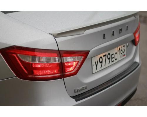 Накладка на задний бампер (АБС) Yuago АртФорм для Lada Vesta SW/ Vesta седан