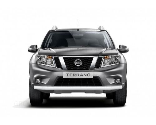 Защита переднего бампера ПТ Групп одинарная D63 (сталь ППК) для Nissan Terrano 2014-