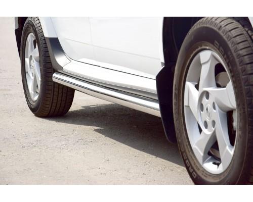 Защита порогов вогнутая ПТ Групп D63 (НПС) для Nissan Terrano 2014-