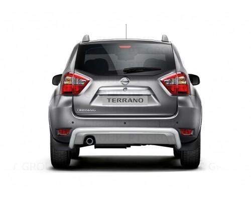 Защита заднего бампера ПТ Групп одинарная D51 (сталь ППК) для Nissan Terrano 2014-