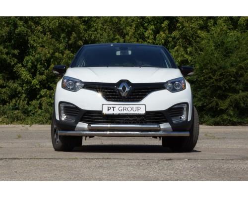 Защита переднего бампера двойная ПТ Групп D63/63 (НПС) для Renault Kaptur