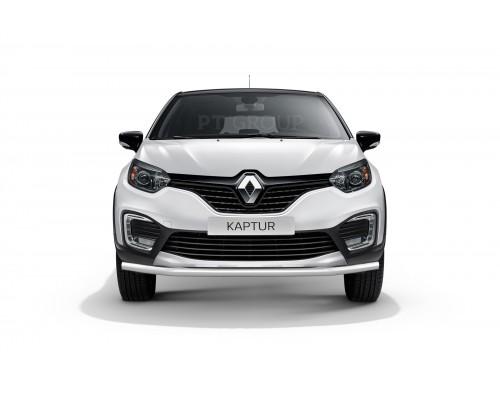 Защита переднего бампера одинарная ПТ Групп D63 (НПС) для Renault Kaptur