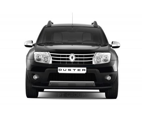 Защита переднего бампера ПТ Групп одинарная D63 (сталь ППК) для Renault Duster 2012- (в т.ч. рестайлинг)