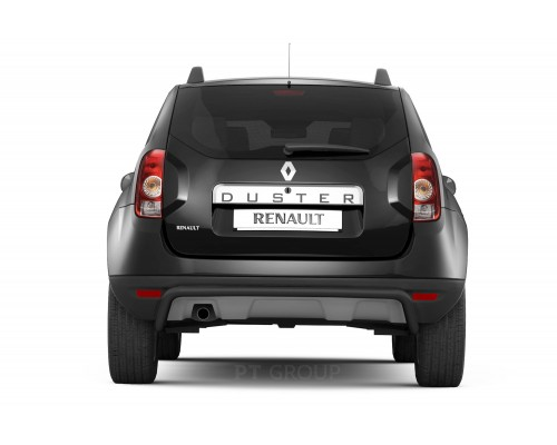 Защита заднего бампера ПТ Групп одинарная D51 (сталь ППК) для Renault Duster 2012- (в т.ч. рестайлинг)