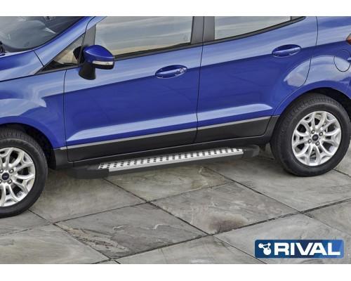 "Пороги алюминиевые Rival ""Bmw-style"" для Ford Ecosport 2014-"