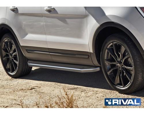 """Пороги алюминиевые Rival """"Premium"""" для Ford Explorer 2011-2015/2015-"""