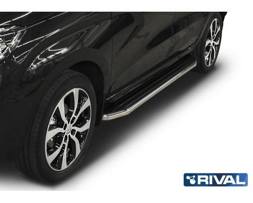 "Пороги алюминиевые Rival ""Premium"" для Lada Xray 2016-"