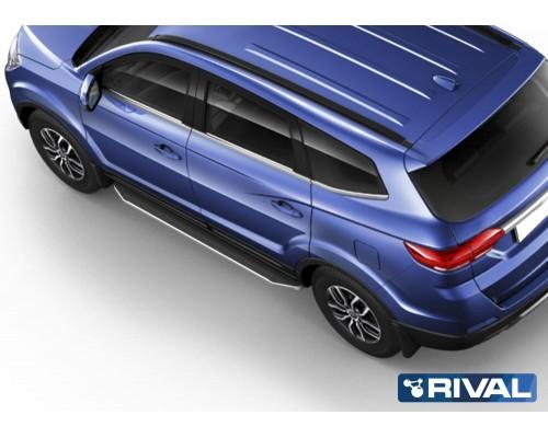 """Пороги алюминиевые Rival """"Premium"""" для Lifan Myway"""