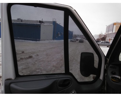 """Шторки каркасные """"Соbra-tuning"""" для Ford Transit 2000-2014 (передние)"""