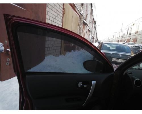 """Шторки каркасные """"Соbra-tuning"""" для Nissan Qashqai 2007-2014 (передние)"""
