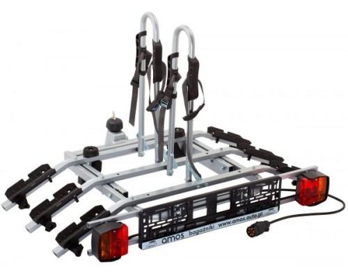 Велоплатформа на фаркоп Amos Tytan 3 Plus для 3-х велосипедов