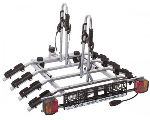 Велоплатформа на фаркоп Amos Tytan 4 Plus для 4-х велосипедов