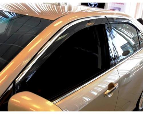 Дефлекторы окон на MAZDA СX-5 2011- ALVI-STYLE с нерж. молдингом