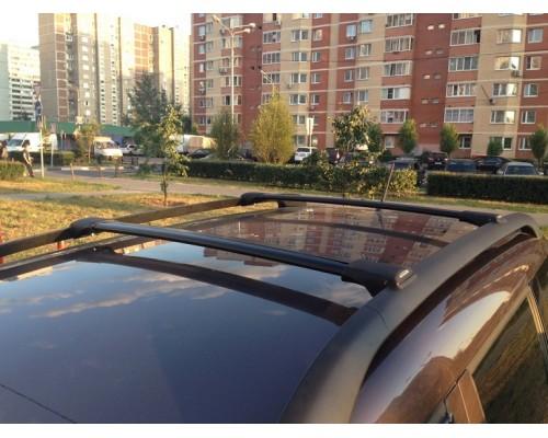 Багажник FICO аэродинамический на рейлинги (черный)